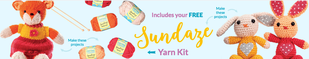 Includes your free sundaze yarn kit